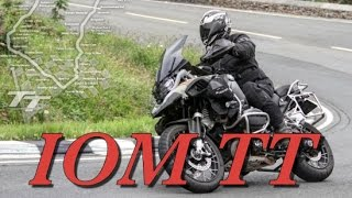 BMW R1200GS Adventure On The Isle Of Man TT Course