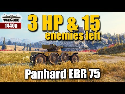 WOT: Panhard EBR 75, 3HP & 15 enemies, WORLD OF TANKS