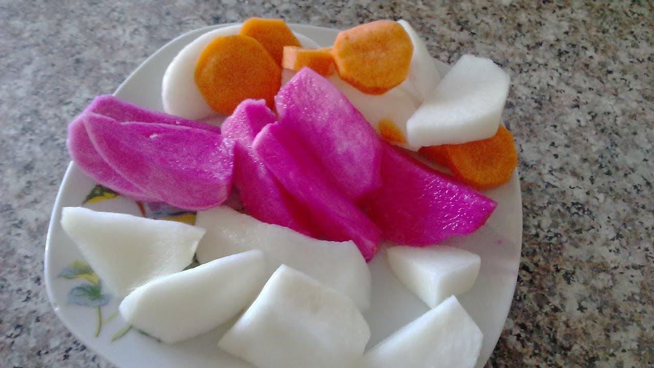 Солим РЕДЬКУ (Лифет) тремя способами(морковь,буряк,перец). - YouTube