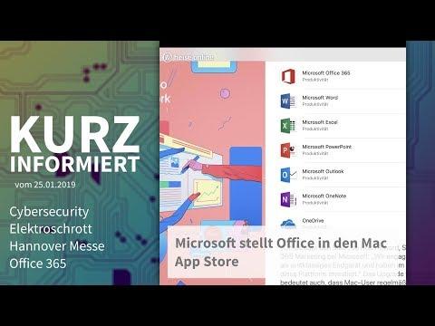Cybersecurity, Elektroschrott, Hannover Messe, Office 365   Kurz informiert vom 25.01.2019