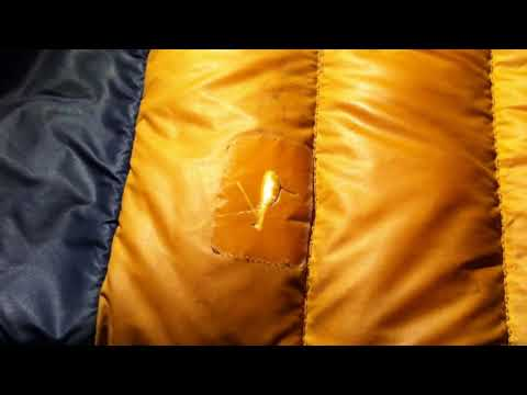 Down Jacket Repair - Outside/ mountain side!