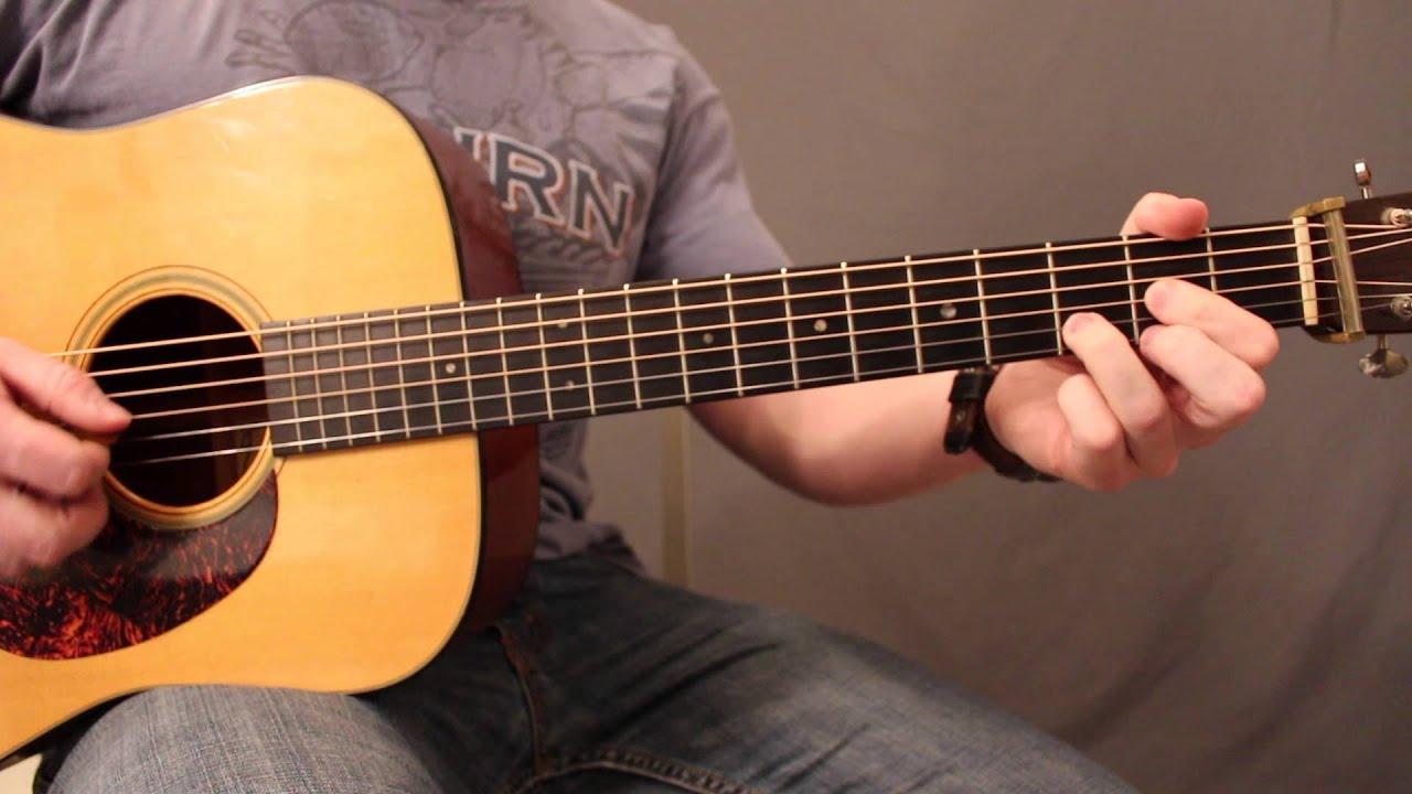 Guitar Chords Up the Neck: G, C, Em, D :Ep. 10: GuitarWOD - YouTube