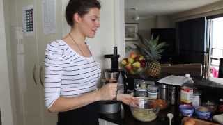 Banana Carrot Cake Recipe Wth Ayon Slow Press Juicer