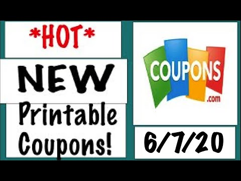*HOT* New Printable Coupons!– 6/7/20
