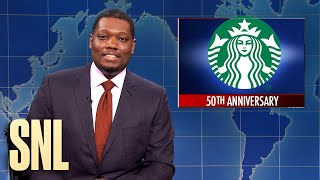 Weekend Update: Starbucks Turns 50, Naked Rock Climber - SNL