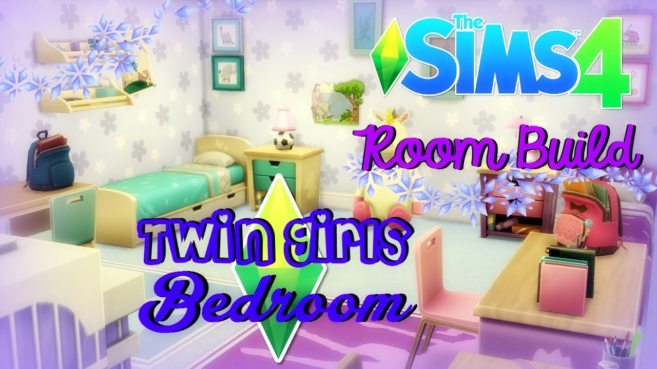 The Sims 4 : Room Build   Twin Girls Bedroom   YouTube