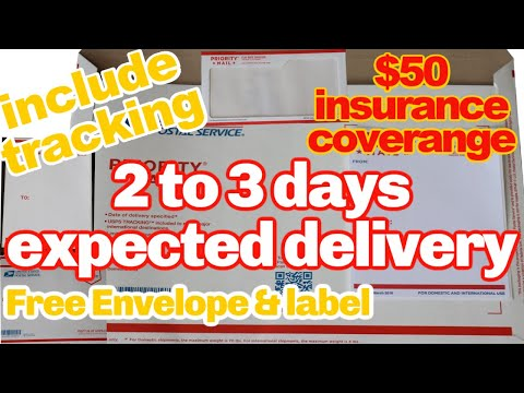 How To Send And Label Priority Mail Flat Rate Envelope | Domestic Only
