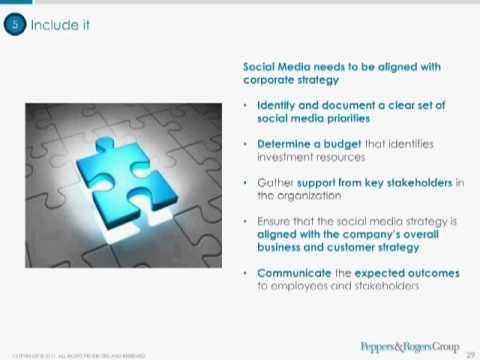 Five Steps in Healthcare's Social Media Agenda -- Peppers & Rogers Group webinar