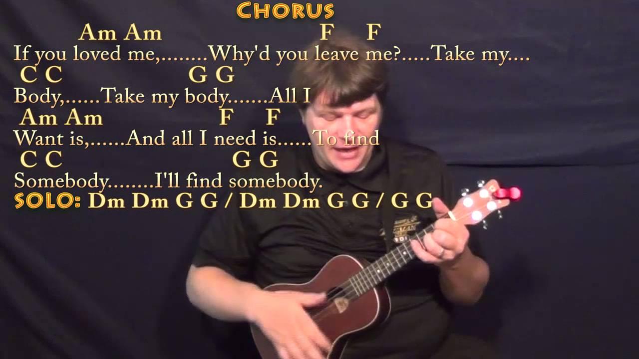 All I Want Kodaline Ukulele Cover Lesson With Chordslyrics Youtube