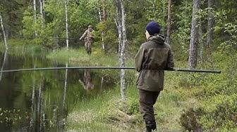 Katin kanssa kalassa - Ahvenia  metsälammesta / Perch from a forest pond