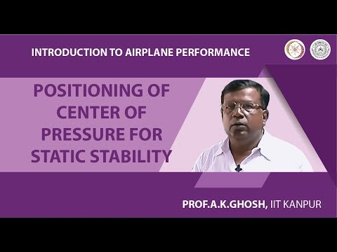 Positioning of Center of Pressure for Static Stability