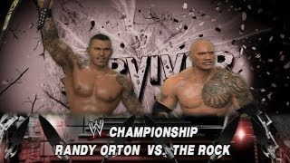 WWE 2K14: Randy Orton vs The Rock - Survivor Series - (WWE Championship Match & Custom Promo)
