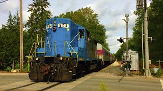 MBTA 904 Leads Middleboro Extra with AMAZING P5 Horn