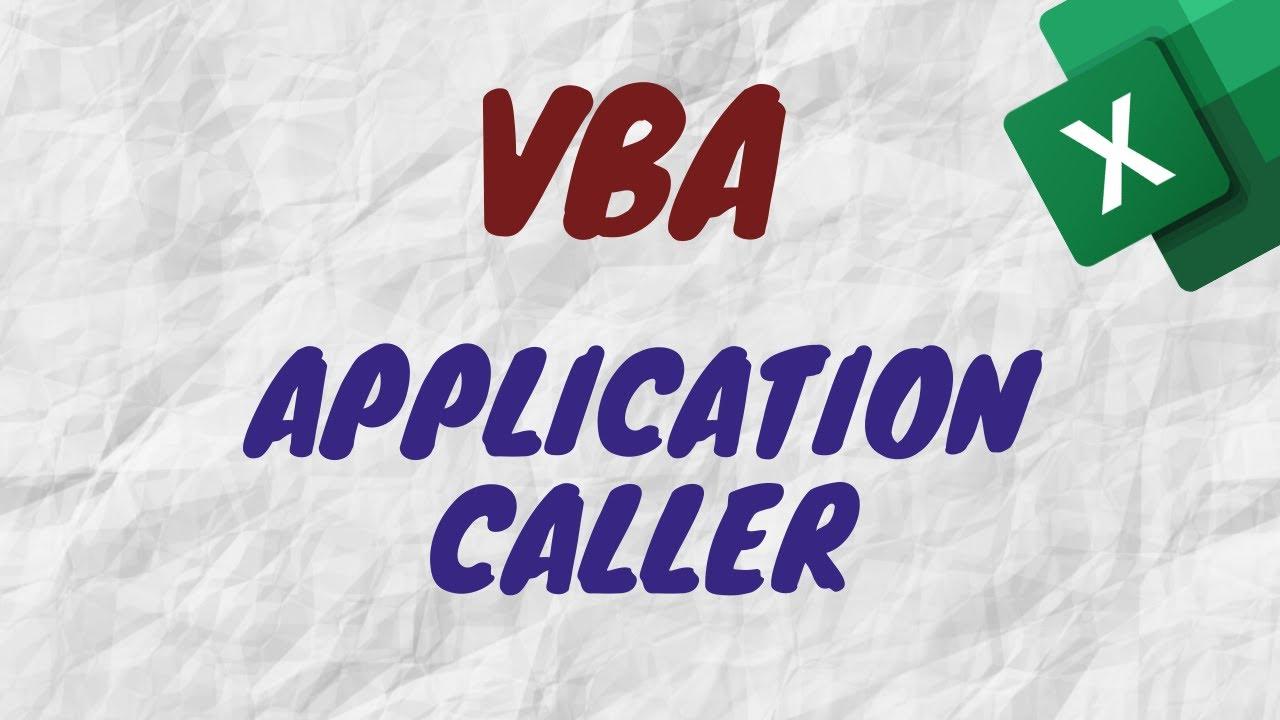 ¿Para qué sirve Application.Caller en VBA? - ¿Cómo Utilizarlo? - Ejemplo Práctico