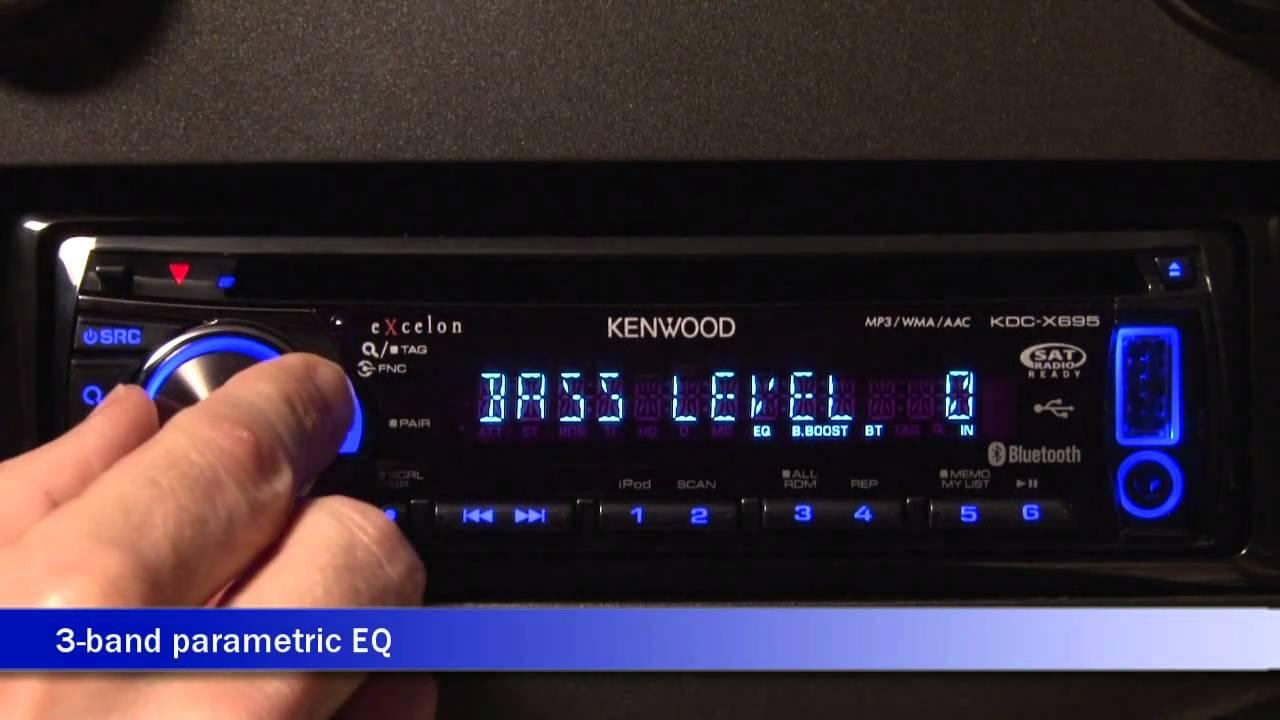 Kenwood Kdc X695 Cd Receiver Display And Controls Demo