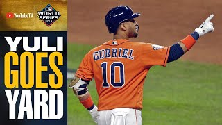 Astros strike FIRST in World Series Game 7 as Yuli Gurriel launches home run | MLB Highlights