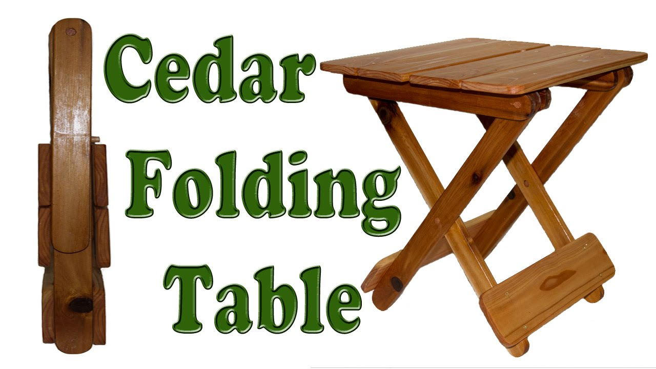 Diy Woodworking How To Make A Folding Table Youtube