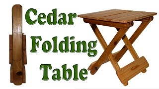 Cedar Folding Table