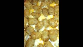 Chicken Bacon Tater Tot Casserole