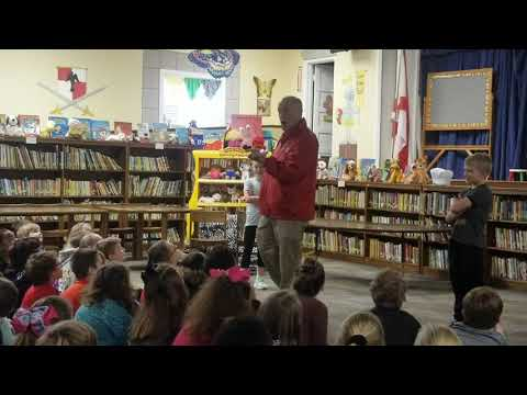 James Spann visits 3rd grade at Centre Elementary School