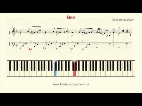 "How To Play Piano: Michael Jackson ""Ben"" Piano Tutorial by Ramin Yousefi"