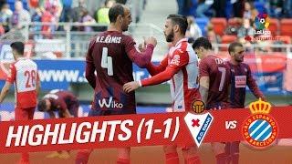 Resumen de SD Eibar vs RCD Espanyol (1-1)