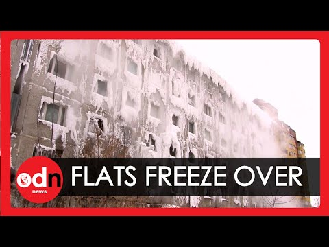 Families Trapped Inside Frozen Block of Flats in Russia