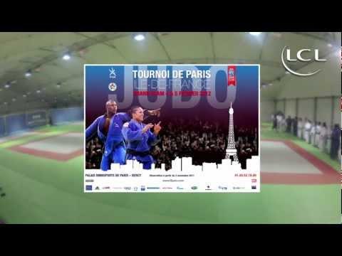 L'équipe de France de judo avant le Tournoi de Paris 2012