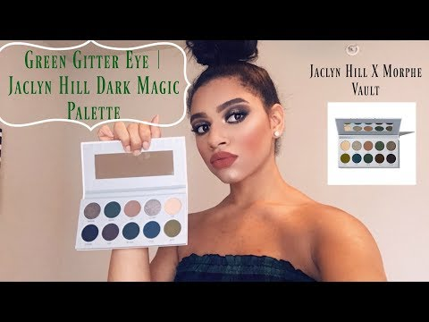 Green Glitter Smokey Eye | Jaclyn Hill Dark Magic Palette Tutorial thumbnail