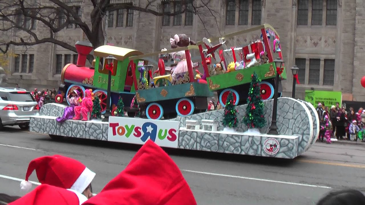 2013 toronto christmas santa claus parade toys r us float youtube