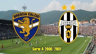 Brescia Calcio Vs. Juventus FC/ Serie A 2000 - 2001/ Partido Completo - Full Match.