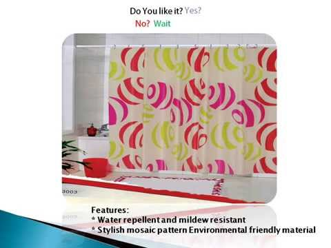 Kawachi Bathroom waterproof shower curtain