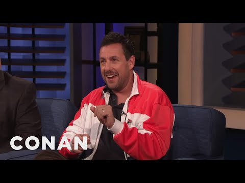 Cover Lagu Adam Sandler's Family Critiqued His On-Screen Kiss With Jennifer Aniston - CONAN on TBS stafamp3