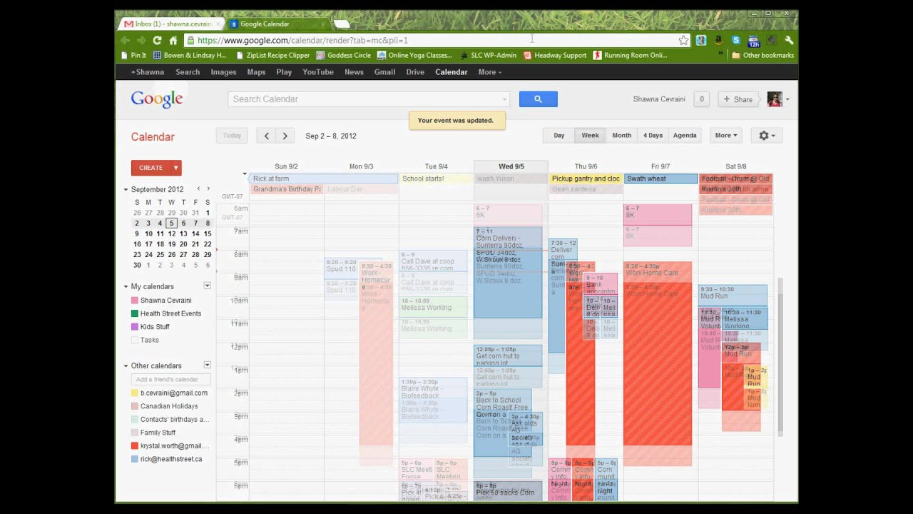 organize your family google calendar youtube