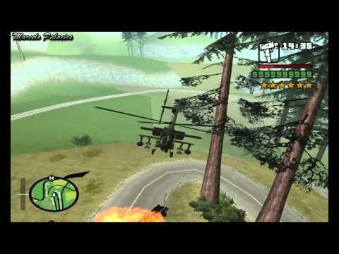 GTA San Andreas - 6 Star Rampage And Escape