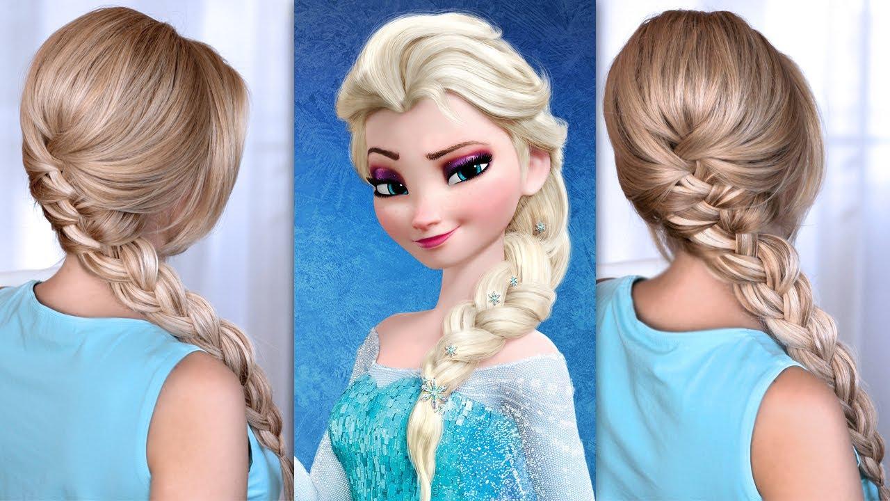 Elsa S Braid Hair Tutorial From Frozen Youtube