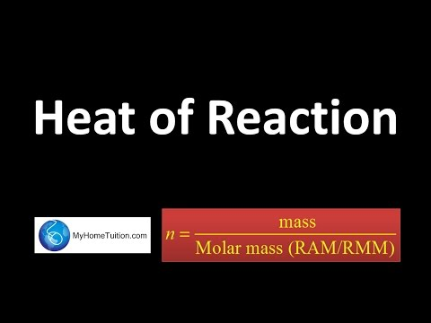 Heat of Reaction   Thermochemistry
