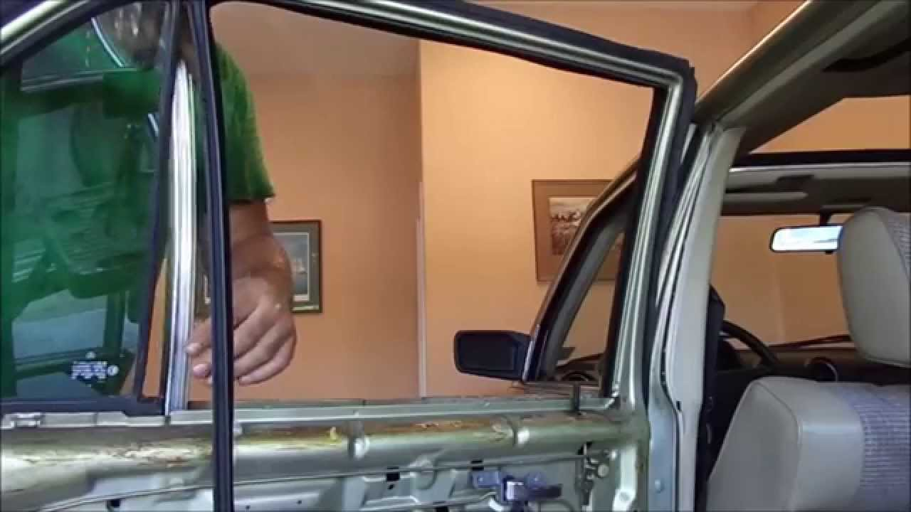 Diy Mercedes Door Panel And Window Glass Replacement W123 300d Youtube