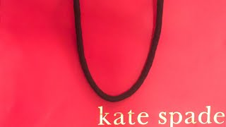 KATE SPADE UNBOXING - CHRISTY J MADE ME DO IT