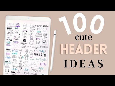 100 Cute Ways To Write A Title | (Easy Header Ideas)