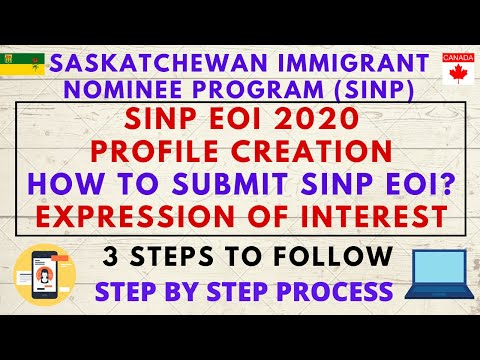 SINP EOI Profile Creation | How To Submit SINP EOI? | STEP BY STEP PROCESS| Expression Of Interest