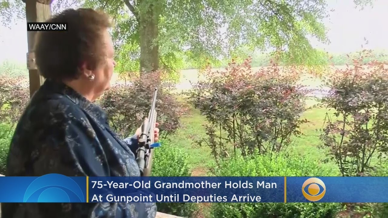 Grandmother, 75, Holds Car Theft Suspect At Gunpoint Until Deputies Arrive