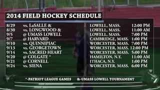 Zowie Tucker Talks 2014 Field Hockey Schedule (Holy Cross Athletics)