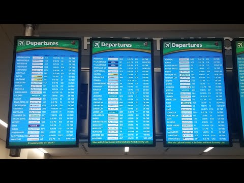 Check In For International Flight At Atlanta Airport (ATL) - Concourse/Terminal F