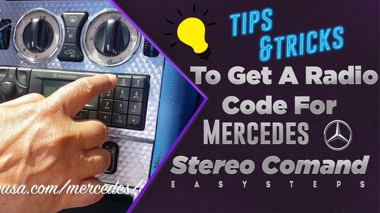 solved to get a radio code for mercedes stereo command. Black Bedroom Furniture Sets. Home Design Ideas