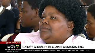 UN says global fight against AIDS is stalling