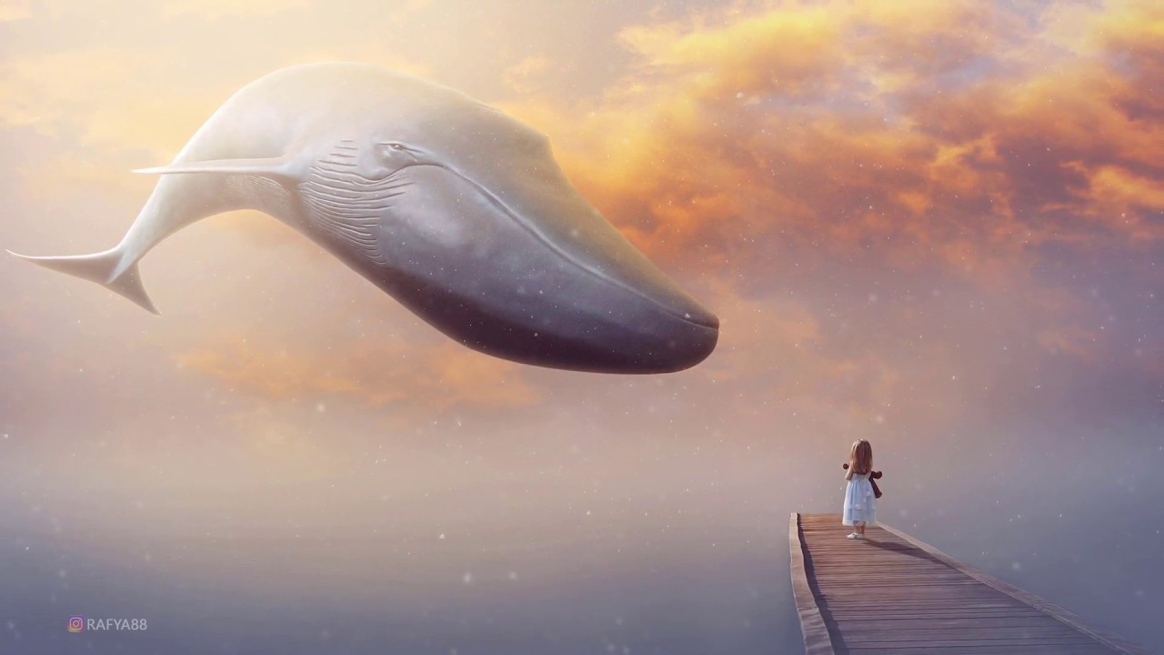big whale - fantasy photoshop manipulation tutorial - youtube