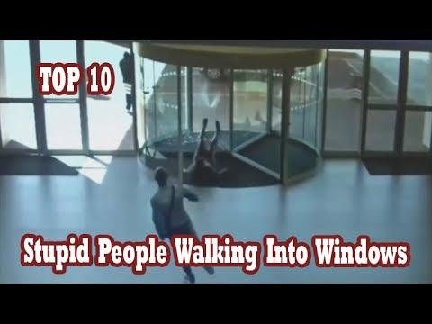 Top 10 Stupid People Walking Into Windows Walking Into Things