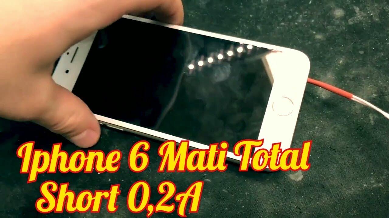 Solusi IPhone 6 Mati Total short 0,2A - YouTube