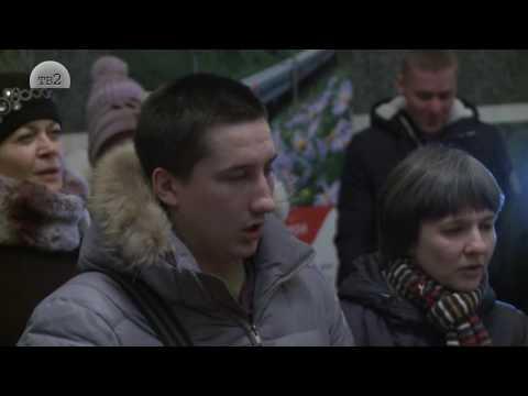 Флешмоб Песня на вокзале Томск 1. Ой там, на горi (Жил-был пес)